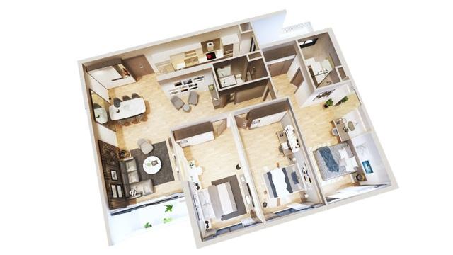 Căn hộ loại A1 với 3 phòng ngủ tại Bohemia Residence
