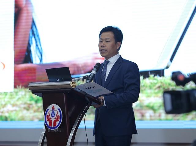 Thứ trưởng Bộ LĐTB&XH Lê Quân phát biểu tại hội thảo sáng nay