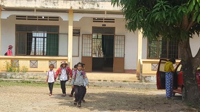Phân hiệu trường Tiểu học Nguyễn Du nơi xảy ra sự cố
