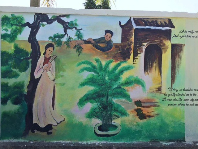 Độc đáo con đường bích họa trên quê hương Đại thi hào Nguyễn Du - 1