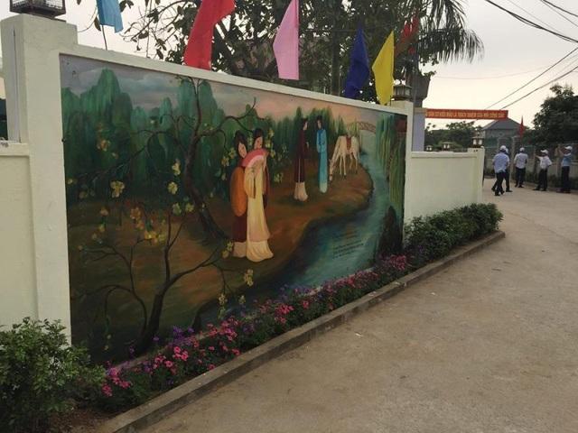Độc đáo con đường bích họa trên quê hương Đại thi hào Nguyễn Du - 4