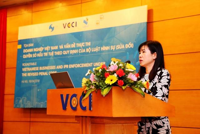 Thạc sĩ Lê Thị Vân Anh, Trưởng phòng Pháp luật Hình sự, Vụ Pháp luật hình sự - hành chính, Bộ Tư pháp.