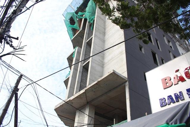 Công trình khách sạn nơi xảy ra vụ tai nạn lao động