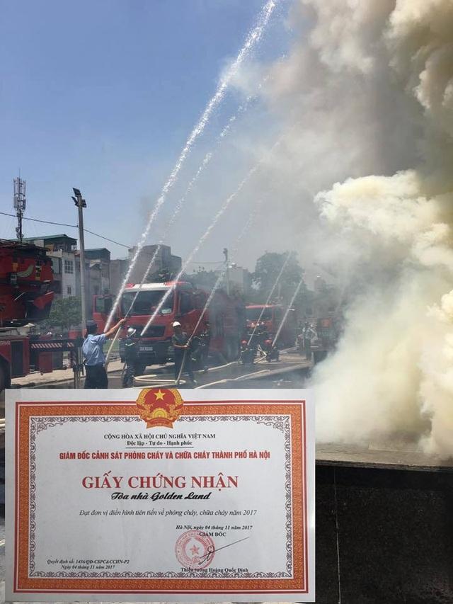 Năm 2017, tổ hợp Golden Land được Giám đốc Cảnh sát PCCC TP Hà Nội tặng bằng khen về thành tích là đơn vị điển hình tiên tiến về PCCC.