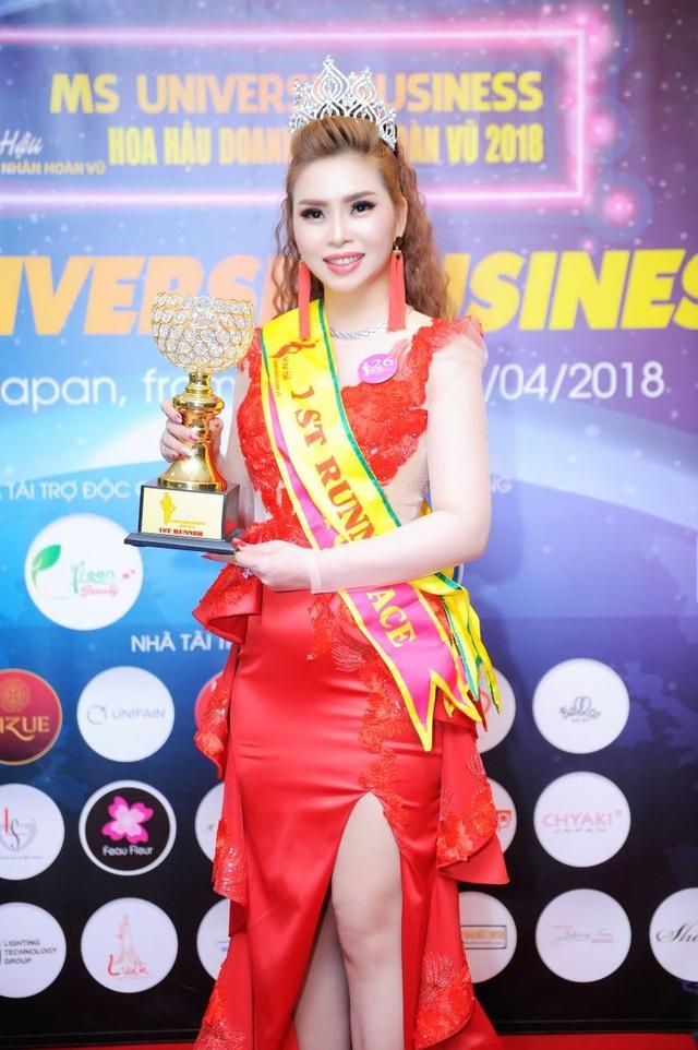Vũ Thanh Thảo đăng quang Á hậu 1 tại Hoa hậu Doanh Nhân Hoàn Vũ 2018 - 2