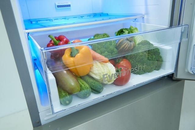 Công nghệ tiên tiến của tủ lạnh Beko giúp rau củ quả tươi lâu hơn gấp 3 lần.