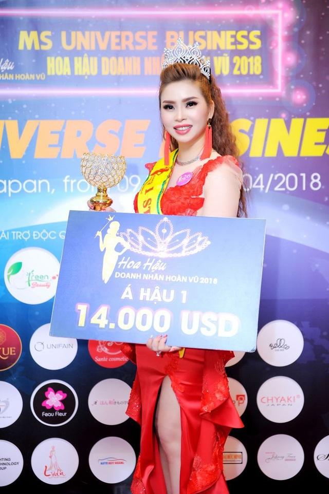Vũ Thanh Thảo đăng quang Á hậu 1 tại Hoa hậu Doanh Nhân Hoàn Vũ 2018 - 3