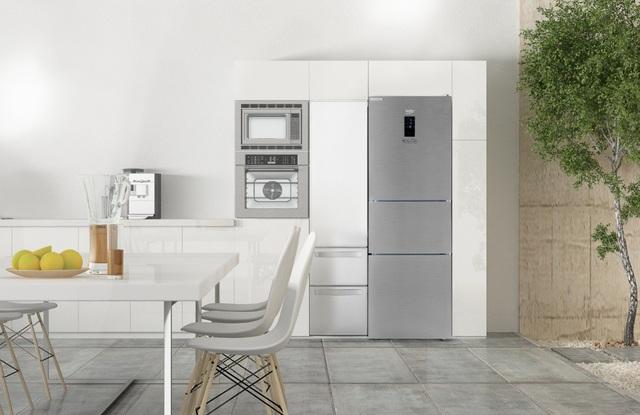 Linh hoạt chuyển đổi các ngăn tủ lạnh giúp cho người dùng dự trữ thực phẩm hợp lý hơn.