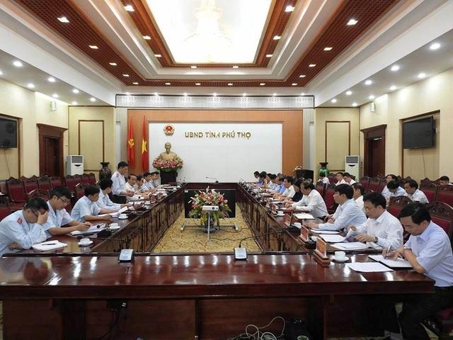 Thanh tra Chính phủ công bố quyết định thanh tra tại trụ sở UBND tỉnh Phú Thọ (Ảnh: TTCP).