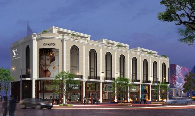 shophouse Tuần Châu Marina được thiết kế dạng nhà 2 mặt phố có diện tích 108m2 đến hơn 600 m2.
