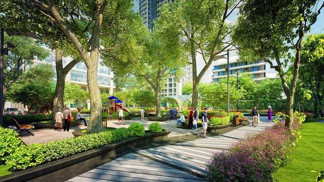 Không gian xanh trong lành cho sức khỏe của cả gia đình