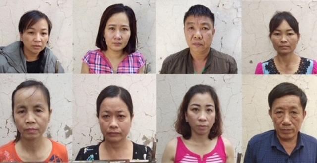 8 đối tượng bị khởi tố