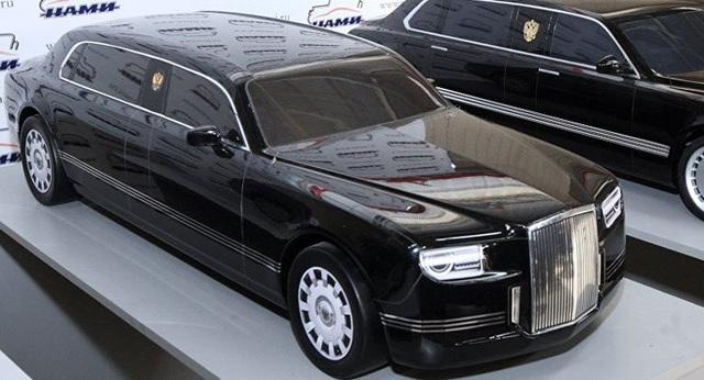 Các mẫu xe thuộc dự án Kortezh được trưng bày (Ảnh: RT)