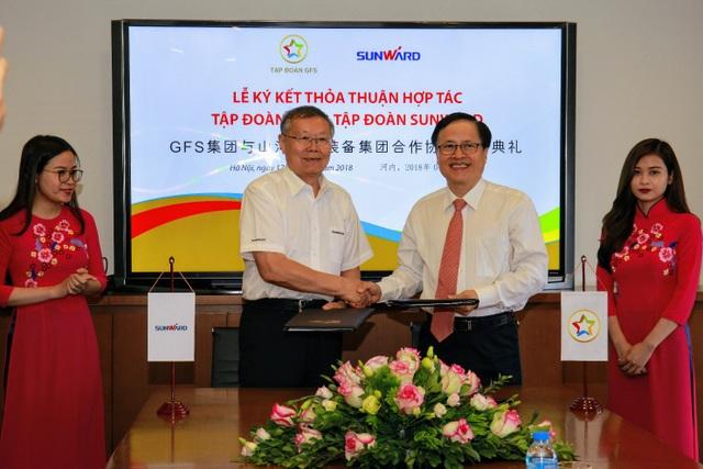 Lễ ký kết thỏa thuận hợp tác giữa Tập đoàn GFS và Tập đoàn Sunward.