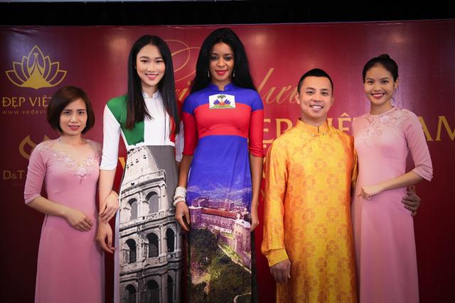 Cặp vợ chồng Chí Anh – Khánh Linh rạng rỡ khi diện áo dài tại sự kiện