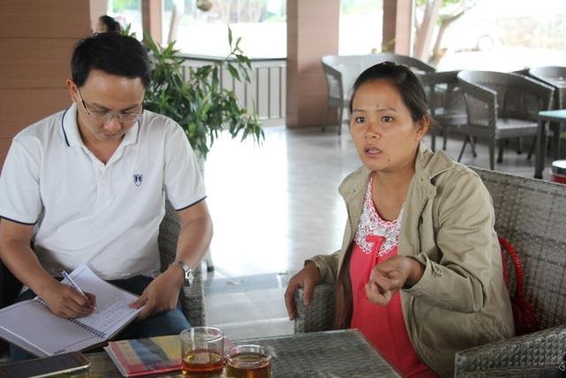 Chị Vân kể lại việc bị lừa tiền với PV