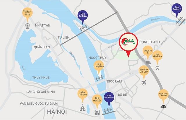 """Khai Sơn City sở hữu vị trí đắc địa """"Nhất cận thị - nhị cận giang – tam cận lộ""""."""