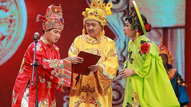 NSƯT Quốc Khánh để lại nhiều dấu ấn với vai Ngọc Hoàng trong 15 mùa Táo Quân.