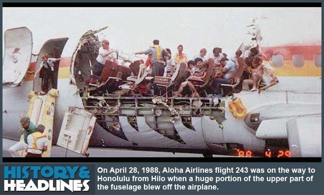 Hình ảnh chiếc máy bay bị xé toạc khi hạ cánh xuống sân bay