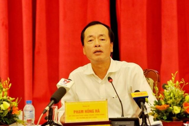 Bộ trưởng Xây dựng Phạm Hồng Hà