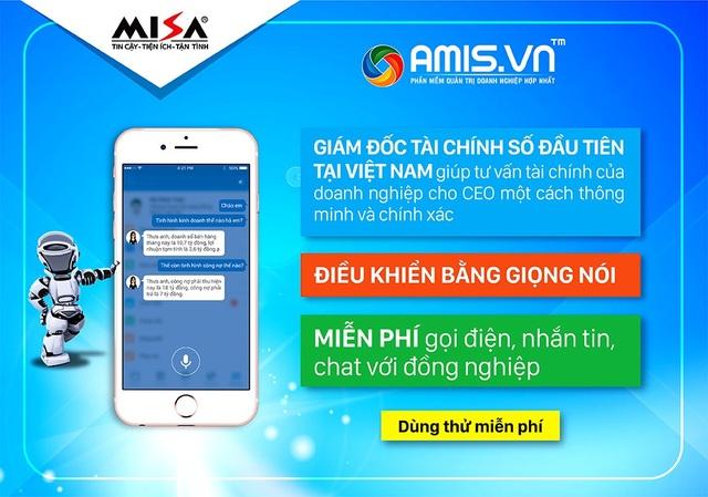 Giám đốc tài chính số giúp báo cáo tình hình tài chính doanh nghiệp bằng giọng nói trên Phần mềm Quản trị doanh nghiệp AMIS.VN