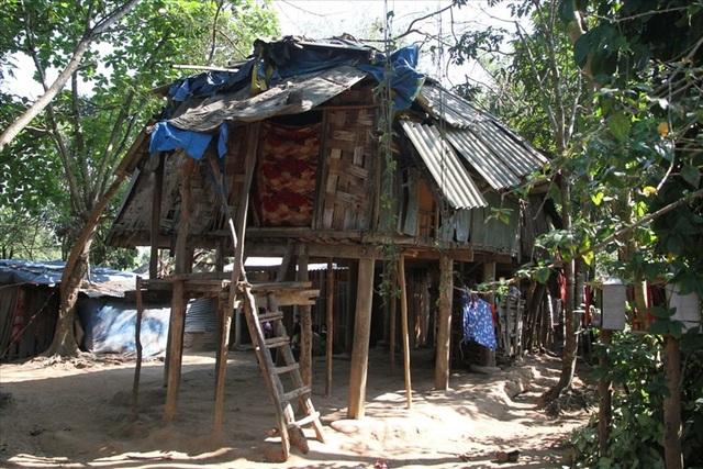 Ngôi nhà của Hồ Văn Tài - công nhân mất tích trong quá trình bỏ trốn khỏi mỏ vàng. Ảnh: Hưng Thơ
