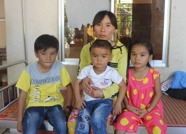 4 mẹ con chị Thật tại bệnh viện Sản Nhi tỉnh Phú Yên