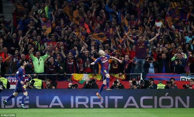 Ngôi sao 34 tuổi này ghi bàn ở trận cuối cùng cho Barcelona ở Cúp Nhà vua