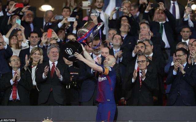 Đây là danh hiệu cuối cùng tại Cúp Nhà vua cùng Barcelona của Iniesta