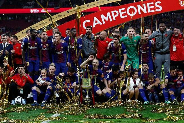 Đây là lần thứ 4 liên tục, CLB xứ Catalonia vô địch Cúp Nhà vua