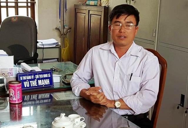 Ông Vũ Thế Mạnh, Bí thư Đảng ủy xã Hải Thanh
