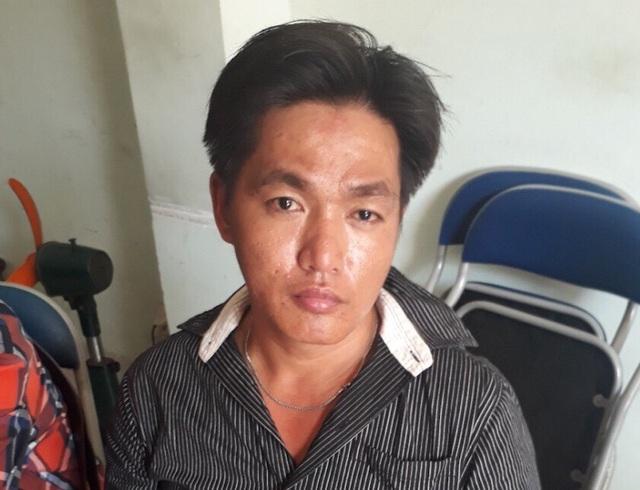 Nguyễn Lê Thanh Phong tại cơ quan công an