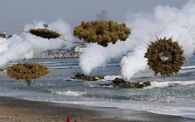 Một cuộc tập trận chung giữa quân đội Mỹ và Hàn Quốc (Ảnh: Reuters)