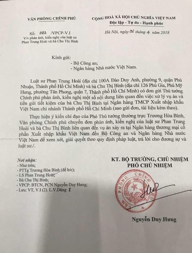 Công văn số 3163/VPCP-V.I của Văn phòng Chính phủ