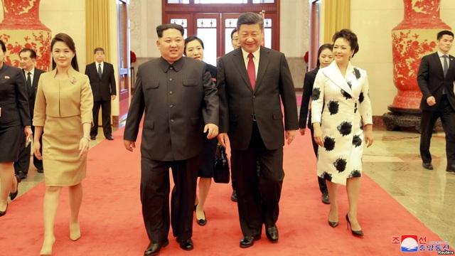Ông Kim Jong-un trong chuyến thăm Trung Quốc tháng 3/2018 (Ảnh: Reuters/KCNA