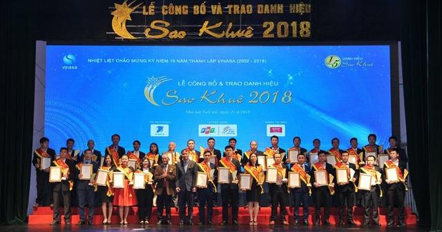 Các đơn vị nhận giải Sao Khuê 2018 tại Nhà Hát Tuổi Trẻ 11 Ngô Thì Nhậm, Hà Nội.