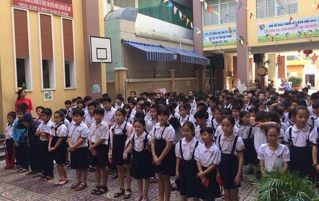 Học sinh Trường tiểu học Sông Lô (Phú Nhuận, TPHCM).