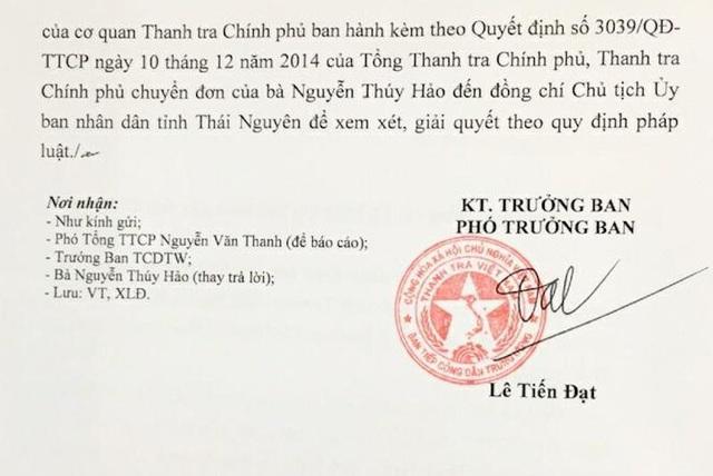 Ban tiếp công dân Trung ương đề nghị giải quyết tố cáo sai phạm tại Thái Nguyên! - 2