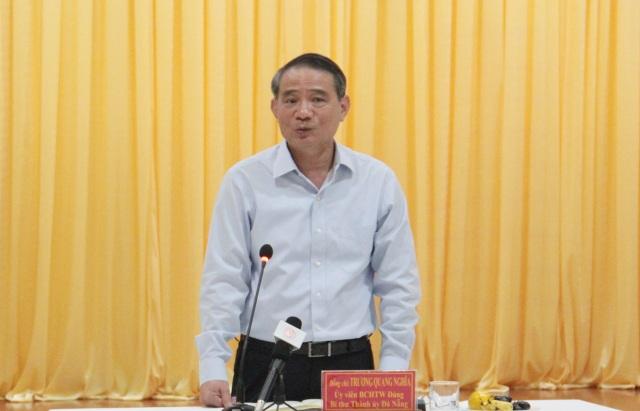Ông Trương Quang Nghĩa - Bí thư Thành ủy Đà Nẵng phát biểu tại buổi gặp mặt cựu chiến binh TP Đà Nẵng chiều 24/4