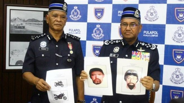 Ảnh vẽ hai nghi phạm được Malaysia công bố ngày 23/4 (Ảnh: PressTV)