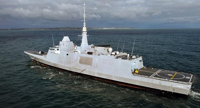 Tàu khu trục FS Aquitaine của Pháp (Ảnh: AFP)