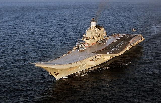 Tàu sân bay Đô đốc Kuznetsov của Nga (Ảnh: Tass)