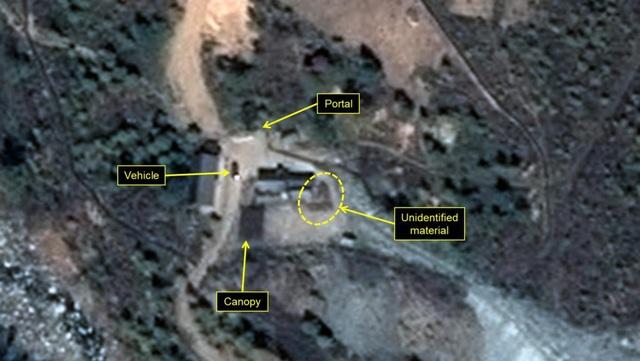 Bãi thử hạt nhân Punggye-ri của Triều Tiên có thể đã bị hư hại nghiêm trọng sau vụ thử hạt nhân lần 6 vào năm ngoái. (Ảnh: Chosun)