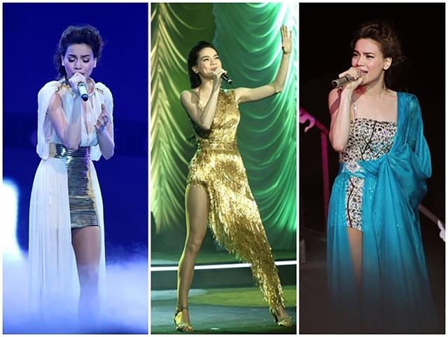 Với nhiều sản phẩm âm nhạc chất lượng, Hồ Ngọc Hà đang được xem là Nữ hoàng của làng giải trí. Ở lĩnh vực ca hát, cô đang là người đẹp không đối thủ khi sở hữu vẻ đẹp trời cho cùng những bước nhảy lôi cuốn. Gu thời trang cũng là một thế mạnh nổi bật của Hà Hồ mỗi khi bước lên sân khấu.