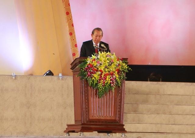 Phó Thủ tướng Trương Hòa Bình phát biểu tại lễ kỷ niệm.