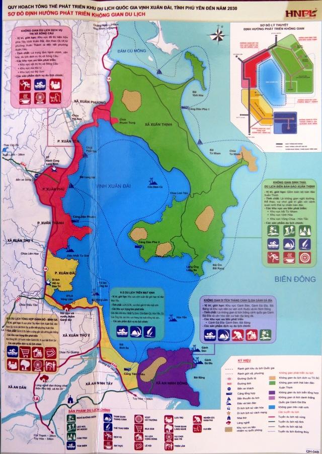 Sơ đồ định hướng phát triển trên không gian du lịch của vịnh Xuân Đài