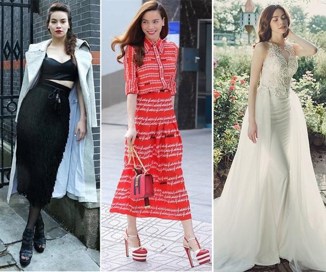 Dù không còn là người mẫu nhưng gu ăn mặc và thần thái của Hà Hồ vẫn toát lên hình ảnh của một người mẫu chuyên nghiệp.