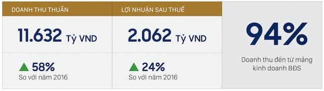 Kết quả kinh doanh 2017 của Tập đoàn Novaland