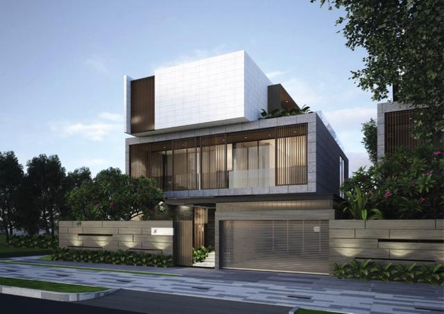 Mô hình biệt thự mẫu làm gợi ý cho các khách hàng có nhu cầu xây dựng.