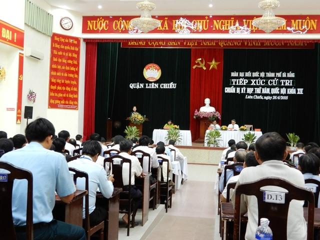 Đoàn đại biểu Quốc hội TP Đà Nẵng đã tiếp xúc cử tri quận Liên Chiểu chuẩn bị cho kỳ họp thứ 5, Quốc hội khóa 14